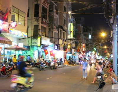 Ho Chi Minh street at night