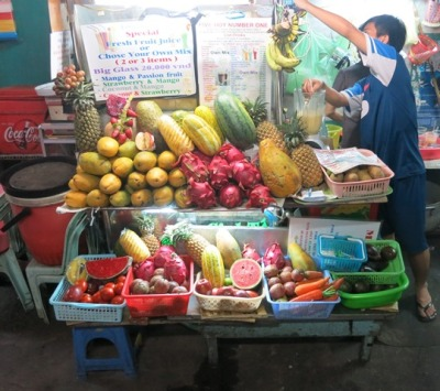Street food (fruit smoothies) in Ho Chi Minh