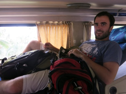 Not much room on the sleeper bus in Vietnam