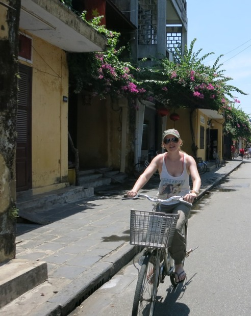 Bicycles through the old town