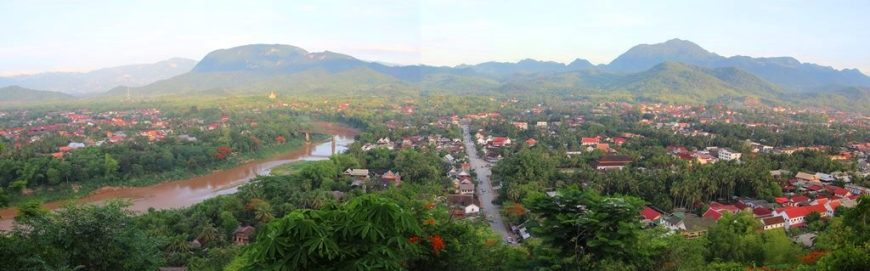 The view over Luang Prabang from the top of the Phu St hill