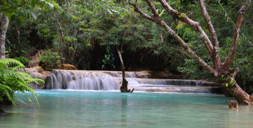 used the tripod for this one - the beautiful Tat Kuang Si Waterfalls, near Luang Prabang