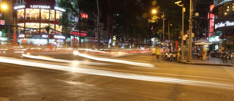 The always busy roads of Ho Chi Minh City