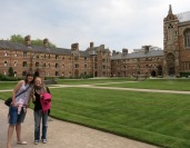 Danielle and Grace in a part of Oxford University