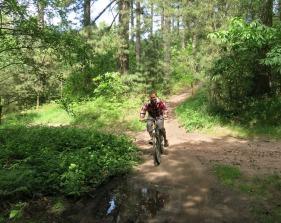 Mountain biking action shot!