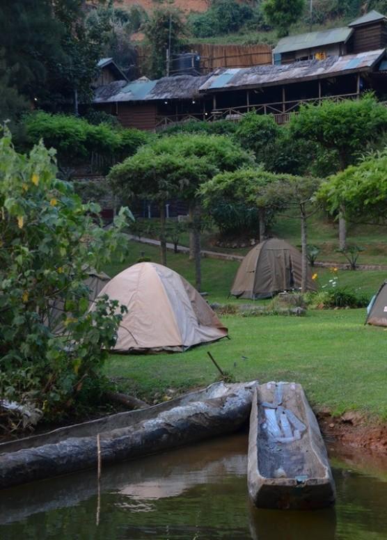 The campsite at Lake Bunyonyi