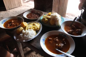 Lunch in the local village