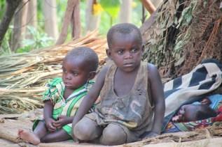 Children at the Pygmy village beside Lake Bunyonyi
