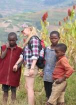 Pygmy village beside Lake Bunyonyi - Danielle has a new man!