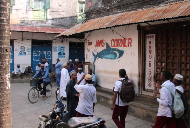 Jaws Corner - long the centre of political (independence) discussion in Zanzibar
