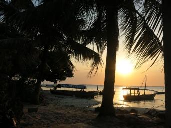 Sunset looking towards mainland Africa