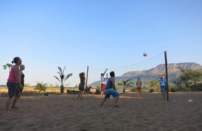 Volleyball by Lake Malawi