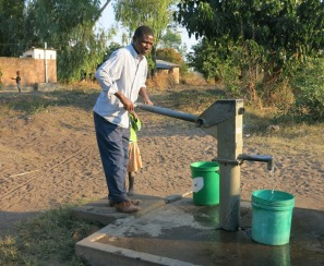 Internationally funded water hand pumps - Kande Beach - Malawi