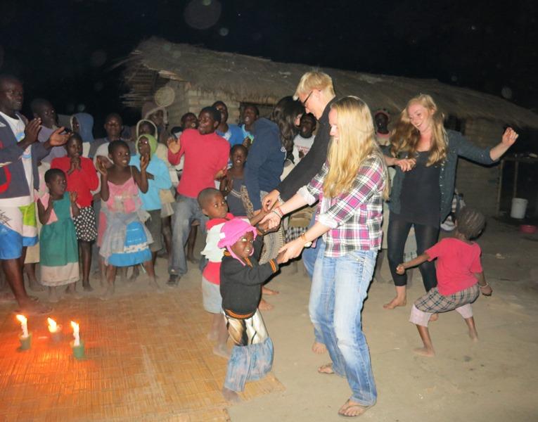 Dancing in the local village - Kande Beach - Malawi