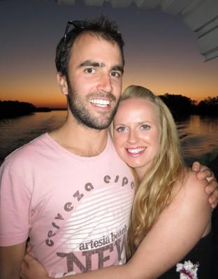 Honeymooners on the sunset cruise