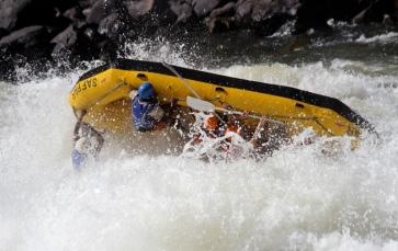 Ian rafting the mighty Zambezi
