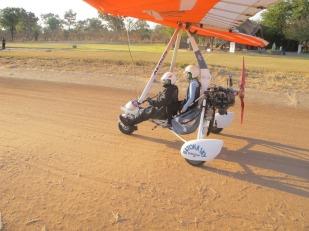 Danielle's Ultra light flight over Victoria Falls
