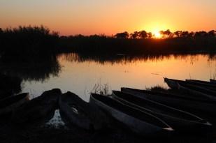 Sunset at the Okavango Delta