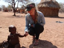 Danielle with a child from the Himba Tribe