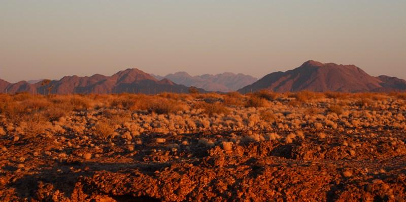 Sesriem Canyon at sunset