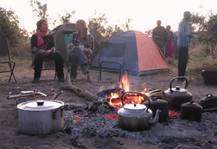 Camping on the Okavango Delta