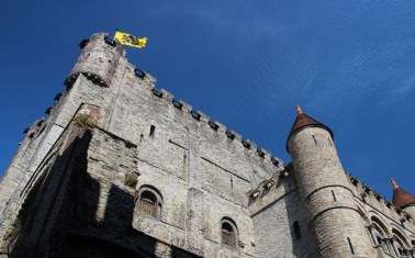 The Gravensteen Castle from the 12th century, Ghent
