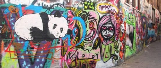 Street art in graffiti street, Ghent