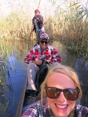 Mokoro boat through the Okavango Delta