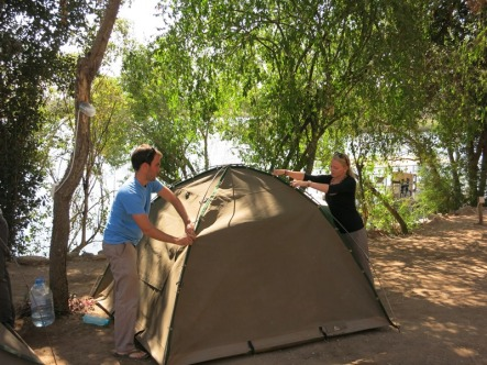 The campsite at Divindu