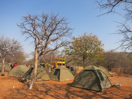 Our beautiful desert camp near Kamanjab, Namibia