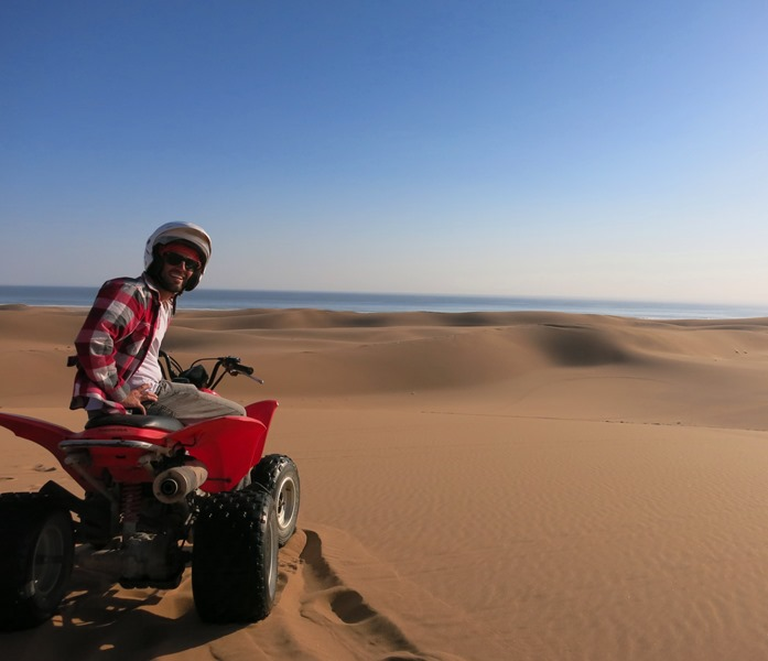 Quad biking in the dunes near Swakopmund