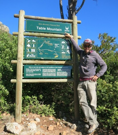 About to start our climb of Table Mountain