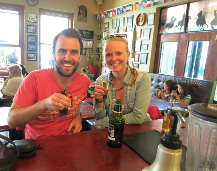 """About to enjoy our """"Albert Jack"""" shots at Fat Cactus!"""