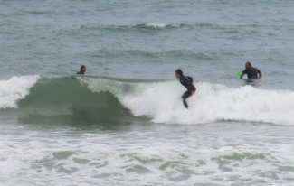 Ian surfing at Anglet Beach