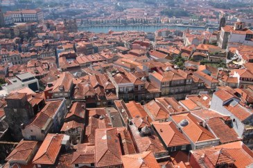 View over Porto towards the river