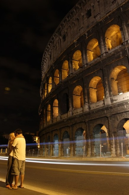 So romantic, by the colosseum