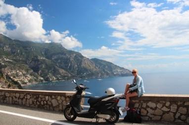 Moped riding on the Amalfi Coast!