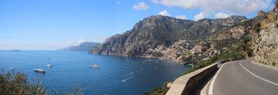 The Amalfi Coast road