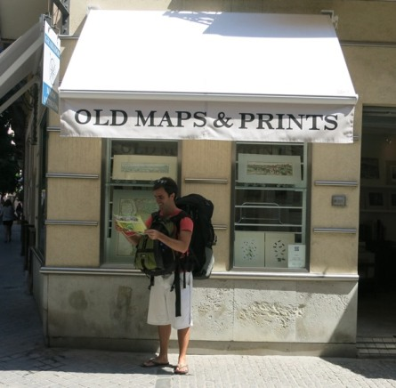 The map lover in map heaven!