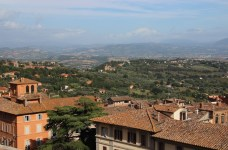 The view from Perugia towards the countryside where we stayed