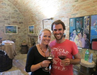 Wine tasting in the Umbria countryside, Italy