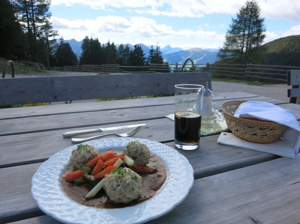 Lunch up in the mountains - traditional goulash
