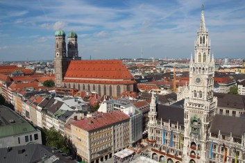 View over Munich from St Peters bell tower