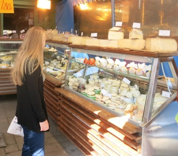 Danielle in a cheese shop - no need for further comment...
