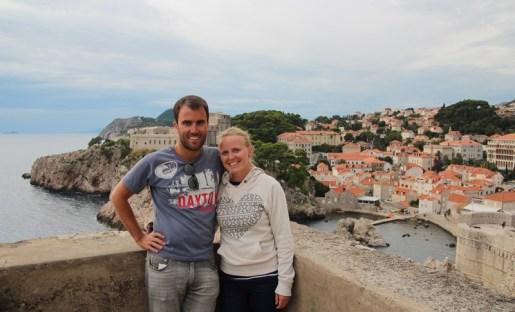 The honeymooners in Dubrovnik