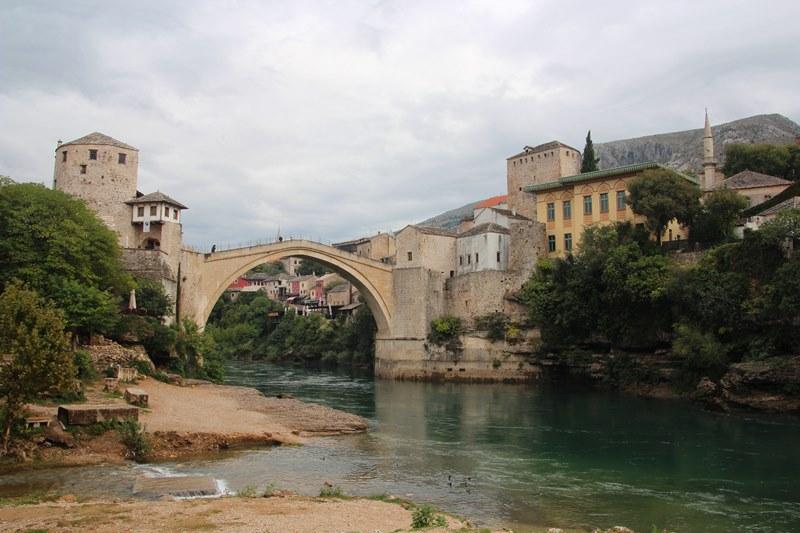 The Stari Grad (old bridge), now reconstructed