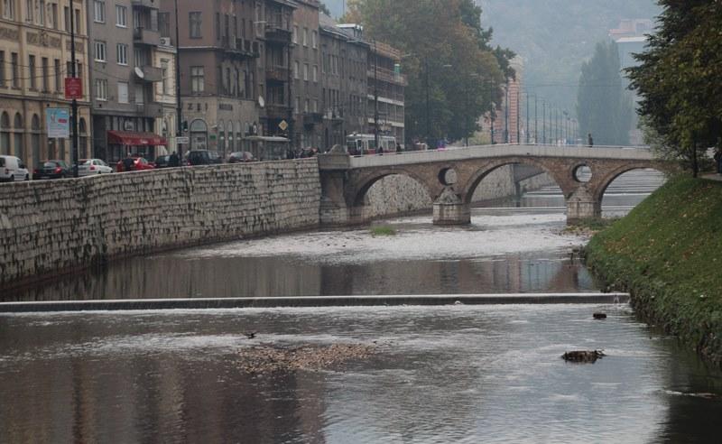 The famous Latin Bridge in Sarajevo