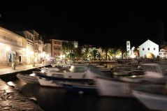 Boats are bobbing, Hvar Old Town by night