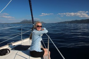Smooth sailing on the way to the Island of Korcula