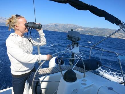 Sailing toward Mljet